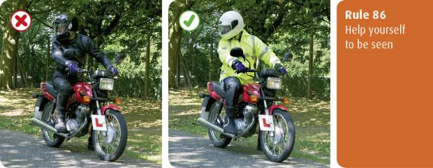 rules for motorcyclists (83 to 88)