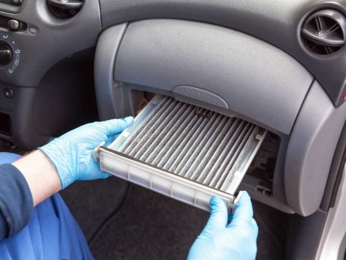 how to change cabin air filter - where