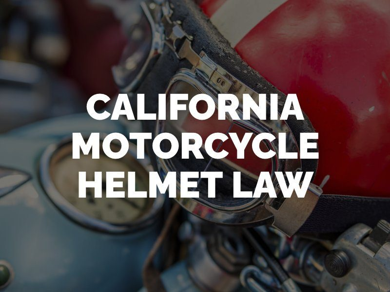 California's Bicycle Helmet Laws – Updated 2018   Walkup Law Offices