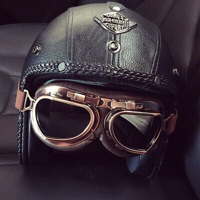 NEW LS2 BOBBER MOTORCYCLE HELMET WITH GOGGLES SIZE XS 6958639404062 | eBay