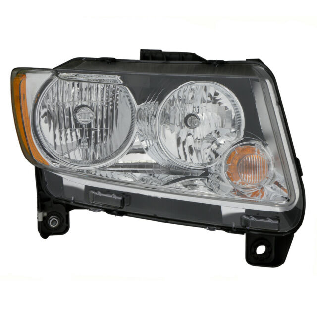 headlight front lamp for 11-13 jeep compass (code lmb) passenger right for sale online   ebay