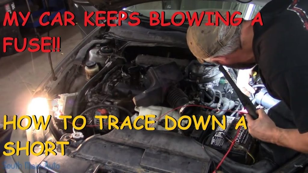 what causes headlight fuse to blow